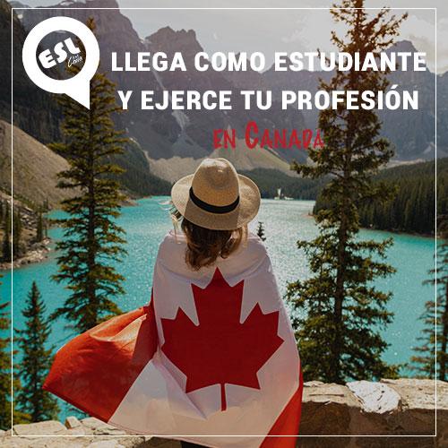 Llega como estudiante y ejerce tu profesión en Canadá